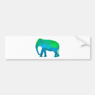 Mosaic Elephant 1 Bumper Sticker