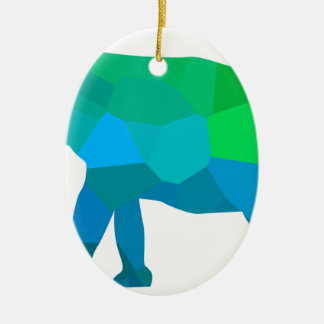 Mosaic Elephant 1 Ceramic Ornament