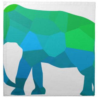 Mosaic Elephant 1 Napkin