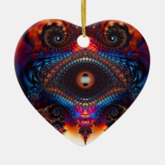 Mosaic Evil Eye Hart Ornament