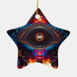 Mosaic Evil Eye Star Ornament