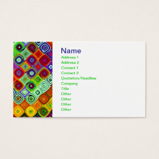 Mosaic Fine Fractal Art Business Card