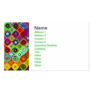 Mosaic Fine Fractal Art Pack Of Standard Business Cards