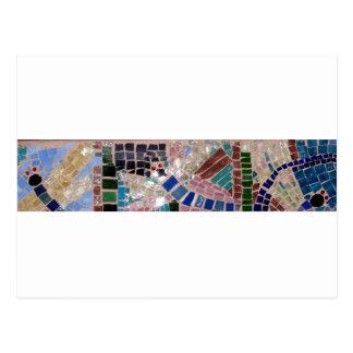 Mosaic Fireflies Postcard
