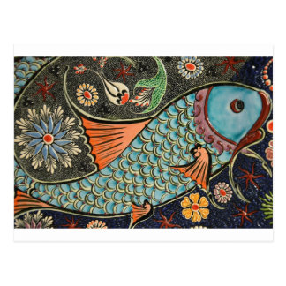 Mosaic Fish Fash Postcard