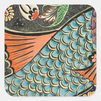 Mosaic Fish Fash Square Sticker