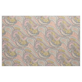 mosaic fish pastel fabric