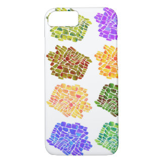 mosaic flower pattern iPhone 7 case