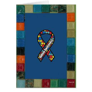 Mosaic Frame For Autism Awareness Card