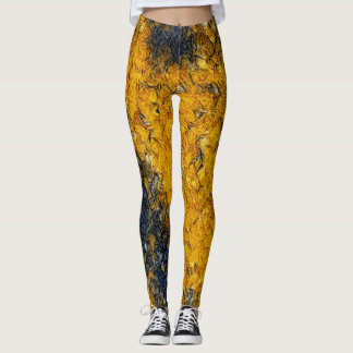 Mosaic Gold Kitty Rave Love Leggings