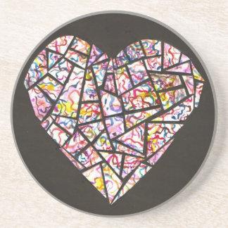 mosaic heart coasters