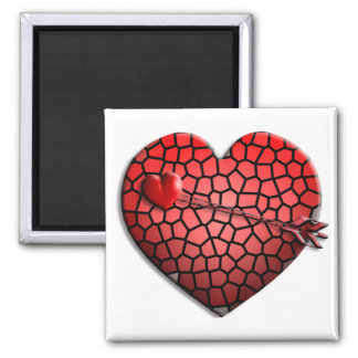 Mosaic Heart Square Magnet