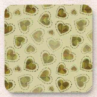 Mosaic Hearts Beverage Coaster