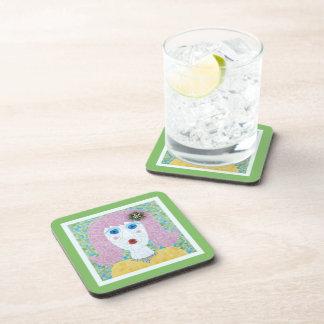 Mosaic - Ingrid with Green & Ivory frame Coasters