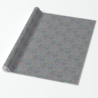 Mosaic jigsaw tiles on jade wrapping paper