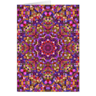 Mosaic Kaleidoscope Custom Greeting Cards