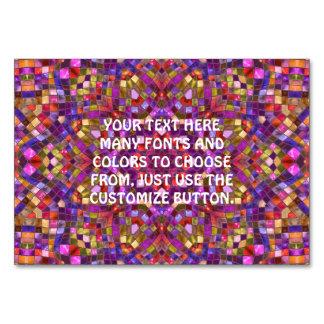 Mosaic Kaleidoscope    Tablecards Card