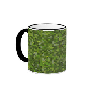 Mosaic Leaf Green Ringer Mug