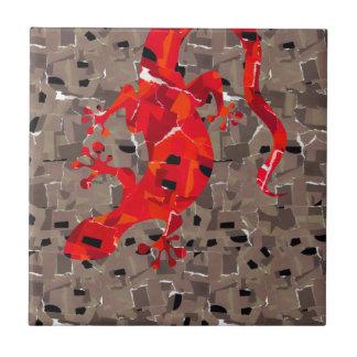 Mosaic Lizard Fantasy Small Square Tile