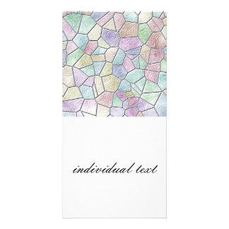 Mosaic Lora,candy Personalized Photo Card
