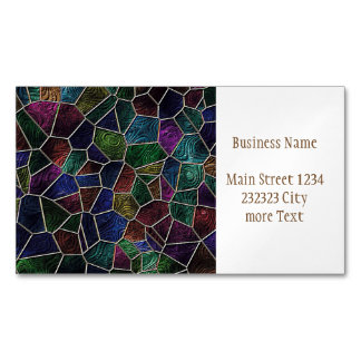 Mosaic Lora, multicolor Magnetic Business Cards