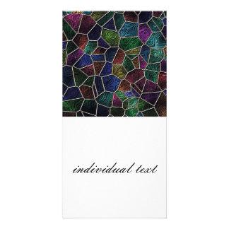 Mosaic Lora, multicolor Photo Card Template