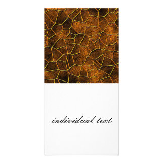 Mosaic Lora, warm brown Custom Photo Card