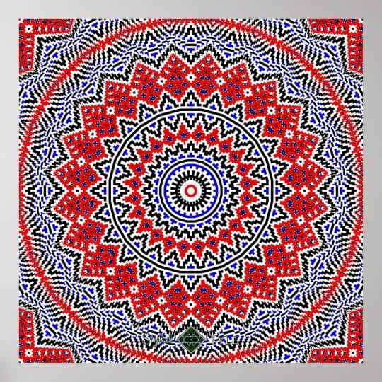Mosaic Mandala 2 Poster