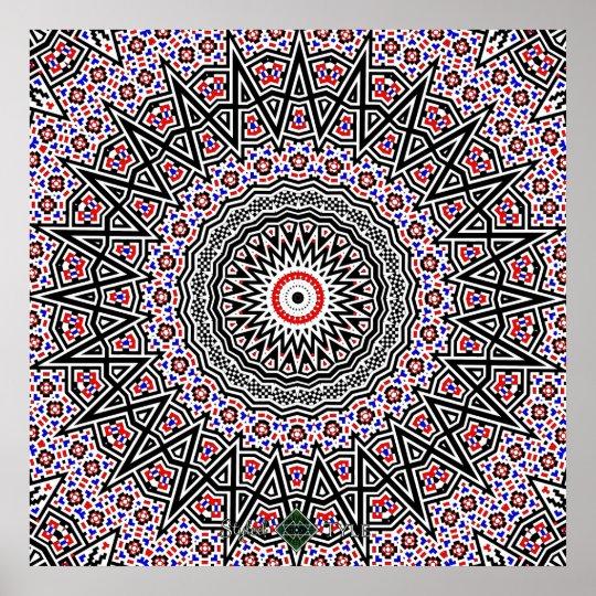 Mosaic Mandala Poster