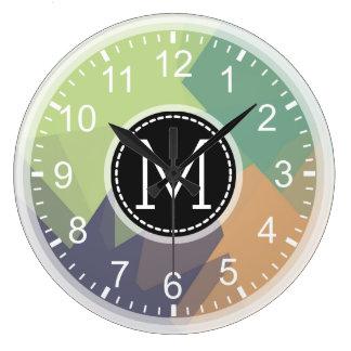 Mosaic Modern Monogram Large Clock