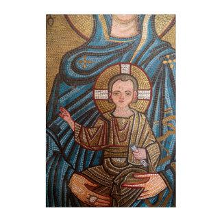 Mosaic Of Baby Jesus Acrylic Wall Art