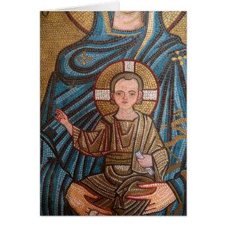 Mosaic Of Baby Jesus Card