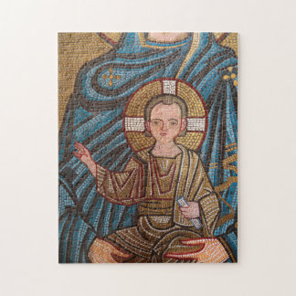 Mosaic Of Baby Jesus Jigsaw Puzzle