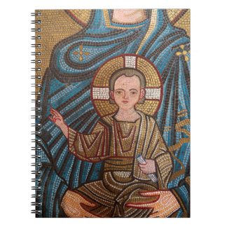Mosaic Of Baby Jesus Notebook