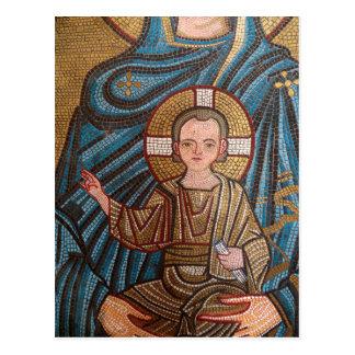 Mosaic Of Baby Jesus Postcard
