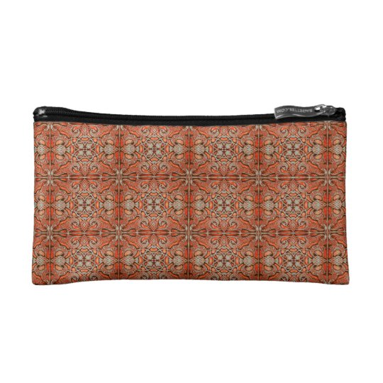 Mosaic of Dark IndianRed colour of the Alhambra. Makeup Bag