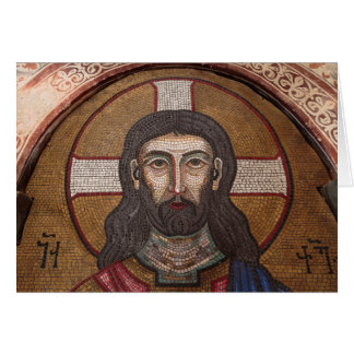 Mosaic Of Jesus Card