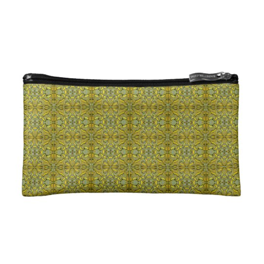 Mosaic of Olive colour  of the Alhambra. Makeup Bag