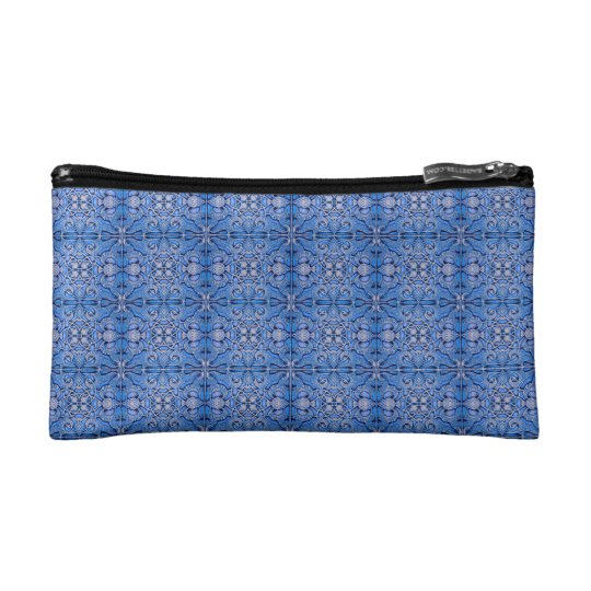 Mosaic of RoalBlue colour of the Alhambra. Cosmetic Bag