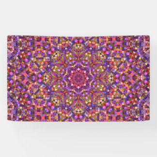Mosaic Pattern   Banners, 4 sizes Banner