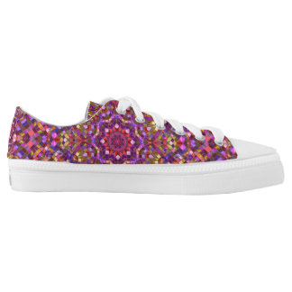 Mosaic Pattern  Custom Low Top Shoes Printed Shoes