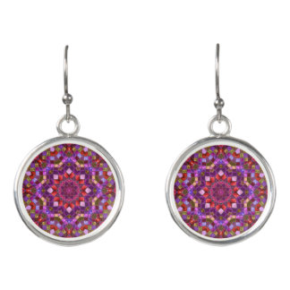 Mosaic Pattern  Drop Earrings