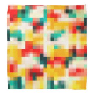 Mosaic Pattern - Red Green Yellow White Bandana