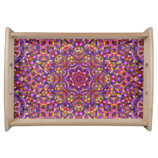 Mosaic Pattern  Serving Trays, 2 sizes Serving Tray