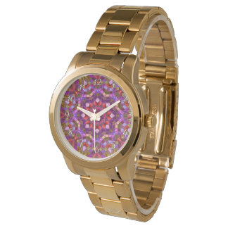 Mosaic Pattern  Vintage Mens Watch