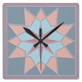 Mosaic pattern wall clock
