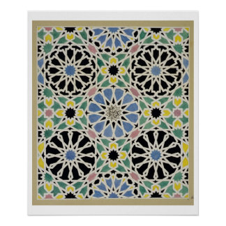 Mosaic Pavement in the Alhambra, from 'The Arabian Poster