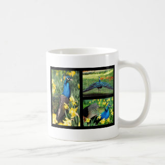 Mosaic photos Indian peafowls Coffee Mug