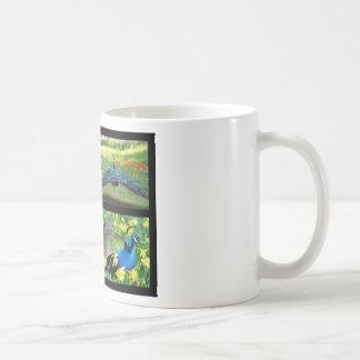 Mosaic photos Indian peafowls Coffee Mug