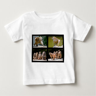 Mosaic photos of baboons baby T-Shirt